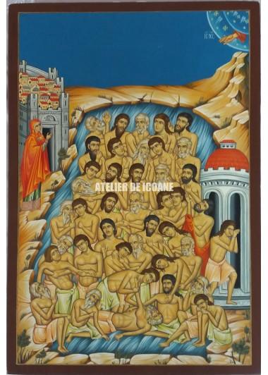 Icoana lui Sfintii 40 de Mucenici - Reproducere