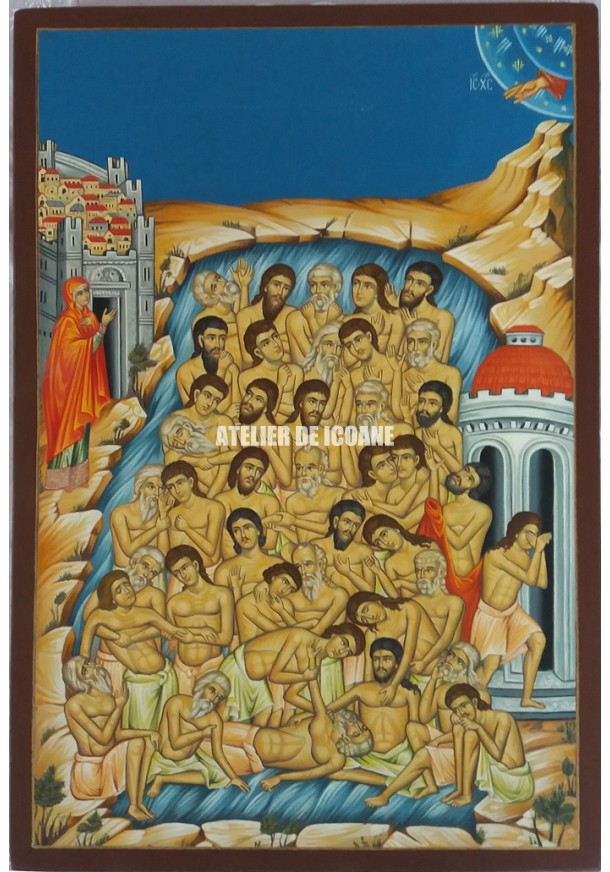 Icoana lui Sfintii 40 de Mucenici - Icoană manual pictată