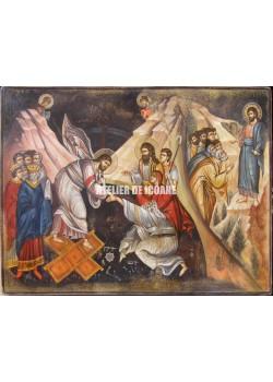 Icoana lui Iisus Hristos - scene din Biblie - Icoană manual pictată