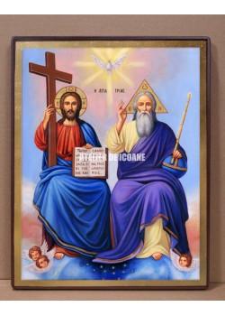 Icoana Sfintei Treimi - Icoană manual pictată