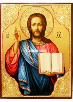 Icoana lui Iisus Hristos – Pantocrator - placare cu aur - Reproducere