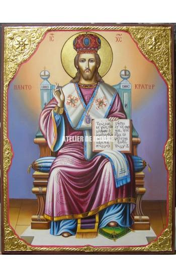 Icoana lui Iisus Hristos Marele arhiereu - Icoană manual pictată