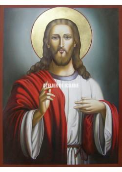 Icoana lui Iisus Hristos – Pantocrator-Аtotputernic - Icoană manual pictată