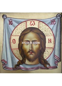 Icoana lui Iisus Hristos – sfântul Mântuitor – nefâurit de mână –Sf. Ubrus - Icoană manual pictată