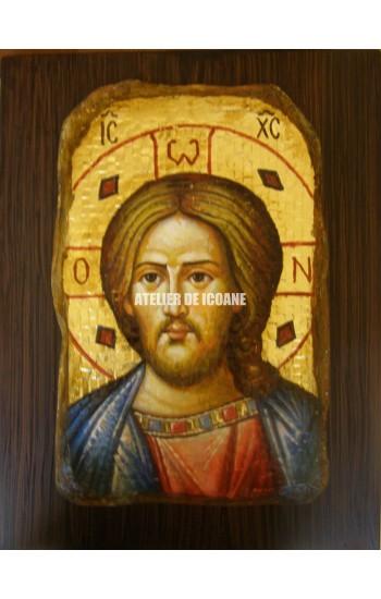 Icoana lui Iisus Hristos – mozaic - Icoană manual pictată