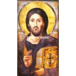 Icoana lui Iisus Hristos – Pantocrator-Аtotputernic – Sinai - cu două feţe din Sinai - Icoană manual pictată
