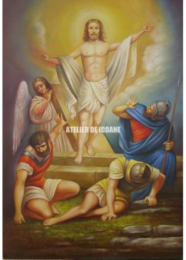 Icoana cu Înviere Domnului – Dumnezeu - Icoană manual pictată