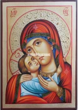 Icoana cu Sfânta Născătoare de Dumnezeu - Reproducere