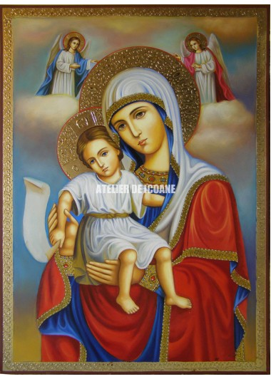Icoana miraculoasă cu Preasfânta Născatoare de Dumnezeu– Demna Est - Icoană manual pictată