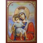 Icoana miraculoasă cu Sfânta Maica Domnului cu Pruncul – Demna Est - Icoană manual pictată