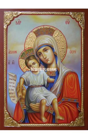 Icoana miraculoasă cu Sfânta Maica Domnului cu Pruncul – Demna Est - Icoane pictate