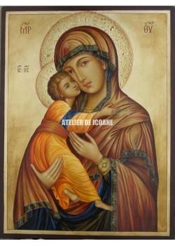 Icoana miraculoasă cu Sfânta Maica Domnului Milostiva din Vladimir - Reproducere