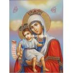 Icoana miraculoasă cu Sfânta Maica Domnului – Demna Est - Icoană manual pictată