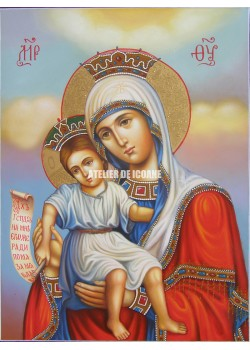 Icoana miraculoasă cu Sfânta Maica Domnului – Demna Est - Icoane pictate