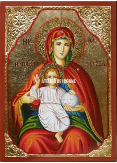 Icoana cu Sfânta Fecioară cu Pruncul - Icoană manual pictată