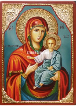Icoana cu Sfânta Maica Domnului cu Pruncul – Îndrumătoare - Hodighitria - Reproducere