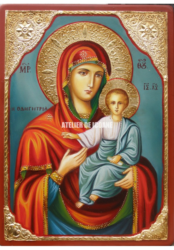 Icoana cu Sfânta Maica Domnului cu Pruncul – Îndrumătoare - Hodighitria - Icoane pictate