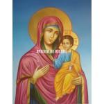 Icoana cu Sfânta Născatoare de Dumnezeu Îndrumătoare - Hodighitria - Icoană manual pictată