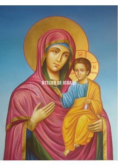 Icoana cu Sfânta Născatoare de Dumnezeu Îndrumătoare - Hodighitria - Reproducere