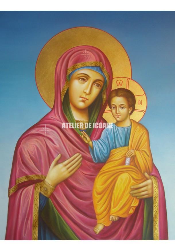 Icoana cu Sfânta Născatoare de Dumnezeu Îndrumătoare - Hodighitria - Icoane pictate