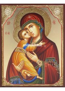Icoana miraculoasă cu Sfânta Maica Domnului Milostiva din Vladimir - Icoane pictate
