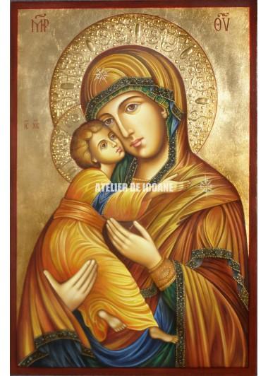 Icoana miraculoasă cu SfântaMaica Domnului Milostiva din Vladimir - Icoane pictate