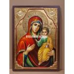 Icoana miraculoasă cu Sfânta Maica Domnului Portărița- Portaitisa din Iver - Icoană manual pictată