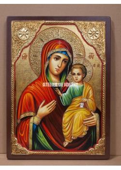 Icoana miraculoasă cu Sfânta Maica Domnului Portărița- Portaitisa din Iver - Icoane pictate