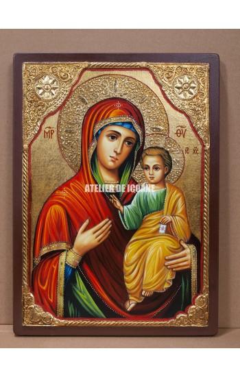 Icoana miraculoasă cu Sfânta Maica Domnului Portărița- Portaitisa din Iver - Reproducere