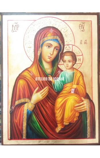 Icoana miraculoasă cu Sfânta Maica Domnului Portărița - Portaitisa din Iver - Icoane pictate