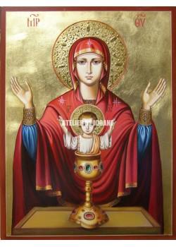 Icoana miraculoasă cu Sfânta Maica Domnului cu Potirul Nesecat - Icoane pictate