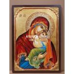 Icoana miraculoasă cu Sfânta Maica Domnului cu Pruncul Milostiva- Eleusa - Icoane pictate