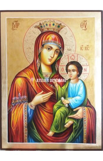 Icoana miraculoasă cu Sfânta MaicaDomnului cu pruncul Hodighitria- Ascultătoare rugăciunilor - Icoane pictate