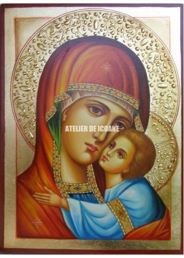 Icoana miraculoasă cu Sfânta MaicaDomnului cu pruncul Milostiva - Eleusa - Icoane pictate