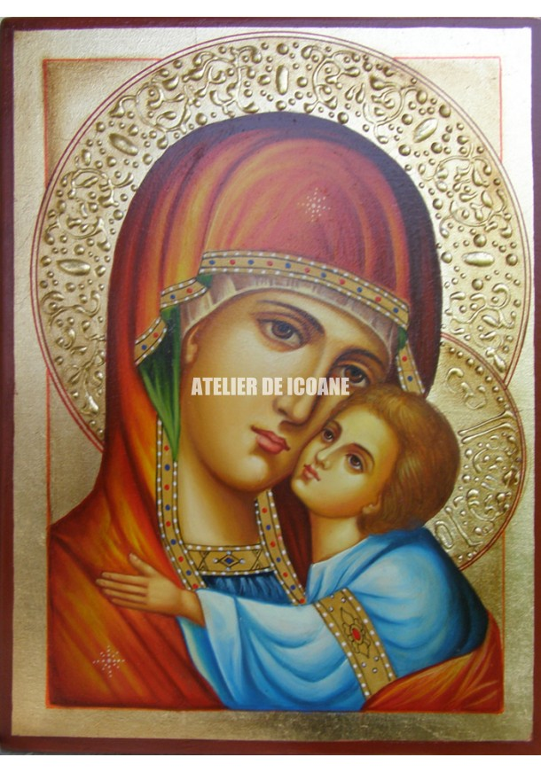 Icoana miraculoasă cu Sfânta MaicaDomnului cu pruncul Milostiva - Eleusa - Reproducere