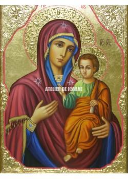 Icoana miraculoasă cu Sfânta Maica Domnului Portărița - Portaitisa din Iver - Icoană manual pictată