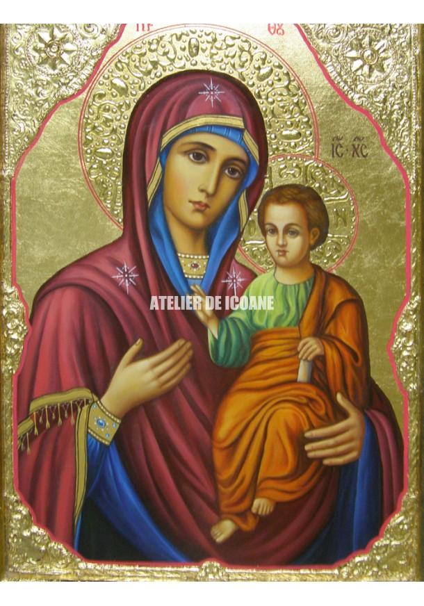 Icoana miraculoasă cu Sfânta Maica Domnului Portărița - Portaitisa din Iver - Reproducere