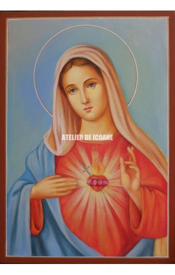 Icoana cu Sfânta MaicaDomnului – imagine pitorescă - Icoane pictate