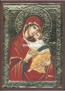 Icoana miraculoasă cu Sfânta Născatoare de Dumnezeu Milostiva - Reproducere