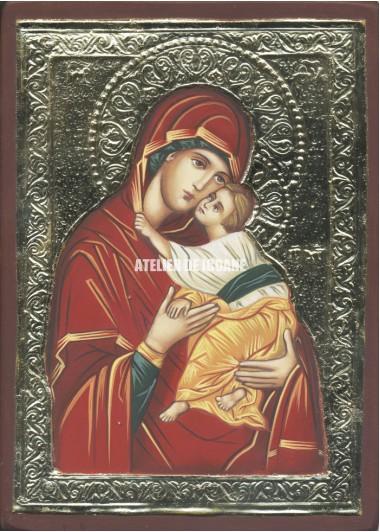 Icoana miraculoasă cu Sfânta Născatoare de Dumnezeu Milostiva - Icoană manual pictată