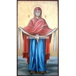 Icoana Acoperământul Preasfintei Născătoare de Dumnezeu - Icoana miraculoasă - Icoană manual pictată