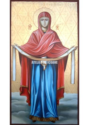 Icoana Acoperământul Preasfintei Născătoare de Dumnezeu - Icoana miraculoasă - Reproducere