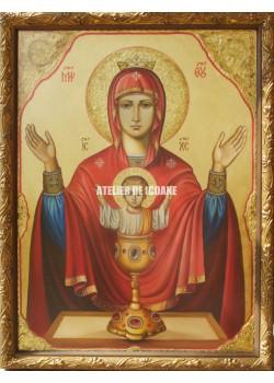 Icoana miraculoasă cu Sfânta Maica Domnului cu Potirul Nesecat - Reproducere