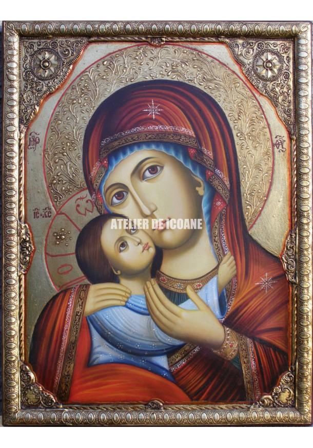 Icoana cu Sfânta Născătoare de Dumnezeu - Icoană manual pictată