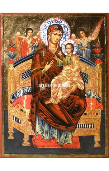 Icoana cu Sfânta Maica Domnului Împărăteasa cerului și a pământului - Pantanassa - Icoane pictate