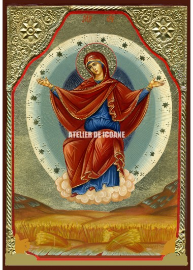 Icoana cu Sfânta Născatoare de Dumnezeu Sporitoarea grânelor - Icoană manual pictată