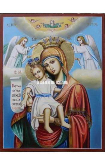 Icoana miraculoasă cu Sfânta Maica Domnului – Demna Est - Mângăitoare - Reproducere