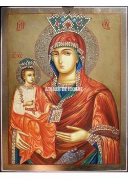 Icoana miraculoasă cu Maica Domnului cu trei maini - Reproducere