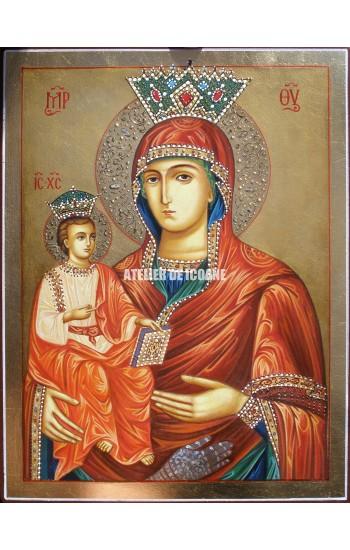 Icoana miraculoasă cu Maica Domnului cu trei maini - Icoane pictate