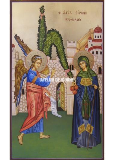 Icoana cu Sfânta Irina Hrisovalanti - Icoană manual pictată